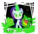 book evil highres hoyeechun ice_cream magic owlowiscious rarity spike