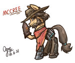cigar crossover mccree ogre overwatch ponified