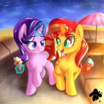 absurdres highres ice_cream katakiuchi4u magic starlight_glimmer sunset_shimmer