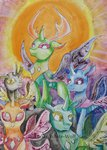 absurdres changeling highres lunar-white-wolf thorax traditional_art