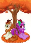 autumn_blaze highres kirin original_character tree 棘有棘無棘棘