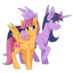 princess_twilight ridgessky scootaloo twilight_sparkle