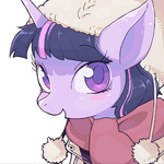 coat hat kuroimoyamoya portrait scarf twilight_sparkle winter