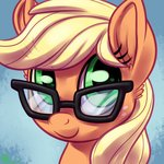 applejack glasses highres whitediamonds