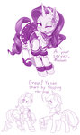 applejack bucket comic dress dstears highres maid_outfit rarity