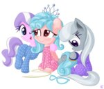 cozy_glow diamond_tiara highres pajamas silver_spoon vectorvito
