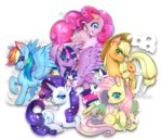 applejack fluttershy main_six pinkie_pie princess_twilight rainbow_dash rarity renciel twilight_sparkle