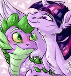 dingobreath princess_twilight spike twilight_sparkle