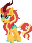 cloudyglow highres kirin species_swap sunset_shimmer vector