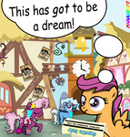 80s back_to_the_future cheerilee equestria_daily highres paraderpy ponified poster ronald_reagan rubik's_cube scootaloo the_great_and_powerful_trixie