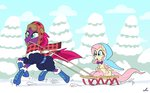 boots clothes docwario fluttershy highres scarf snow tempest_shadow trees