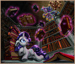 book ghost harwick highres library magic princess_twilight rarity twilight_sparkle