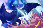 magic monere-lluvia nightmare_moon princess_cadance