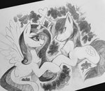 highres princess_cadance sharedast shining_armor traditional_art