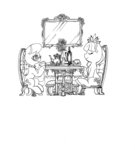 alts-art chair diamond_tiara flowers highres silver_spoon sitting table tea_party traditional_art