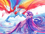 blix-it dragonfly flowers huge_hair rainbow_dash twilight_sparkle