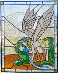 highres princess_celestia stained_glass tjglass viwrastupr