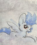 background_ponies cloud shadowbolts slightlyshade traditional_art