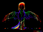 foxenawolf rainbow_dash white_on_black
