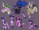 discord headphones heilos magic mug nightmare_moon princess_twilight spike twilight_sparkle