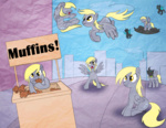 animated betweenfriends changeling derpy_hooves muffin