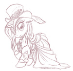dress hat rarity sketch steampunk whitediamonds