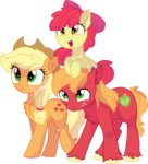 absurdres apple_bloom applejack aureai big_macintosh cyanlightning highres vector