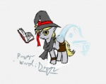 artist_unknown book derpy_hooves hat magic scarf