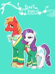big_macintosh rarity the_ponytones wang_okawari