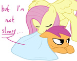 artist_unknown comic fluttershy scootaffection scootaloo