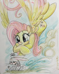 angel fluttershy highres sararichard traditional_art