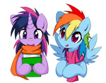 book rainbow_dash scarf smittyg transparent twilight_sparkle