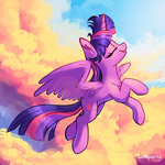 cloud flying lolliponybrony princess_twilight twilight_sparkle