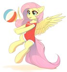 absurdres ball fensu fluttershy highres volleyball