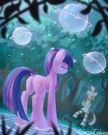 absurdres emeraldgalaxy highres magic twilight_sparkle zecora