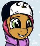 babs_seed coat hat magicalhoney snow snowing winter