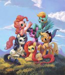 applejack fluttershy highres maggwai main_six pinkie_pie rainbow_dash rarity twilight_sparkle