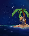 derpy_hooves island joycall3 nighttime ocean shooting_star