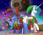 loopend magic majora's_mask mask moon princess_celestia princess_luna the_legend_of_zelda young