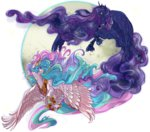 cigarscigarettes huge_hair princess_celestia princess_luna
