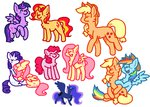 appledash applejack flutterpie fluttershy liighty pinkie_pie princess_luna princess_twilight rainbow_dash rarishy rarity shipping sunlight sunset_shimmer twilight_sparkle