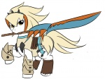 armor crossover kloudmutt monster_hunter ponified sword weapon