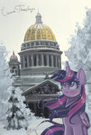 highres princess_twilight saint_petersburg snow trees twilight_sparkle winter xjenn9