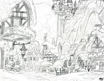 brekrofmadnessrd canterlot highres ponyville scenery traditional_art