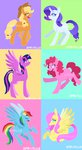 applejack feellikeaplat fluttershy highres main_six pinkie_pie rainbow_dash rarity twilight_sparkle