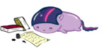 blob book huoratron inkwell transparent twilight_sparkle