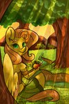 anthro apples fluttershy highres ogaraorcynder tree