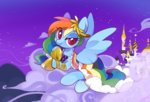 canterlot cloud dress gala_dress lemonheart rainbow_dash