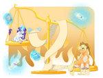 applejack balance book earthsong9405 highres magic rarity scroll