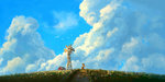 applejack cloud highres plainoasis scenery windmill
